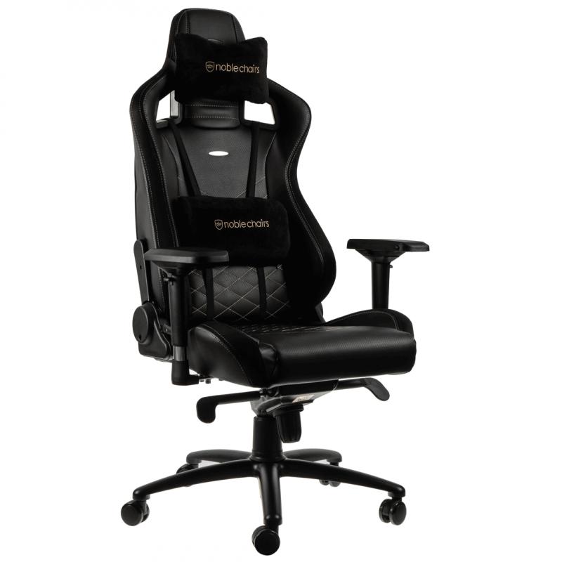 d2ba65514de7 Noblechairs EPIC PU Leather Black / Gold (NBL-PU-GOL-002). Noblechairs EPIC  műbőr gaming szék, fekete-arany